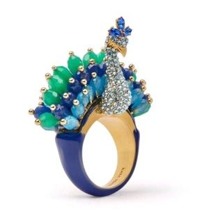 KATE SPADE • Full Plume Peacock Ring